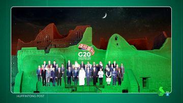 """El montaje viral del G-20 """"tirando de photoshop"""": y sí, Pedro Sánchez es el líder que """"peor parado sale"""""""