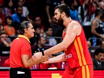Sergio Scariolo y Marc Gasol