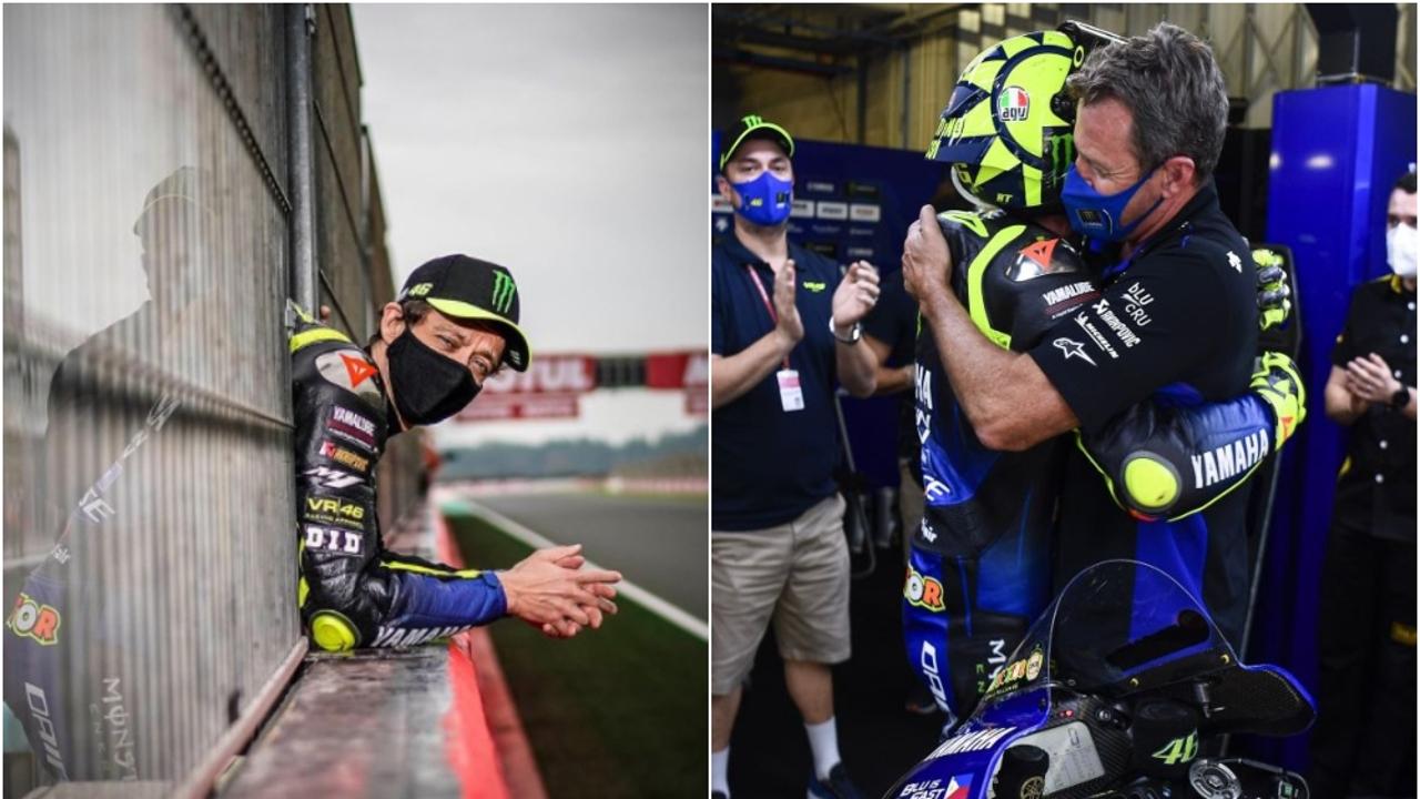 Valentino Rossi en su último Gran Premio con Yamaha