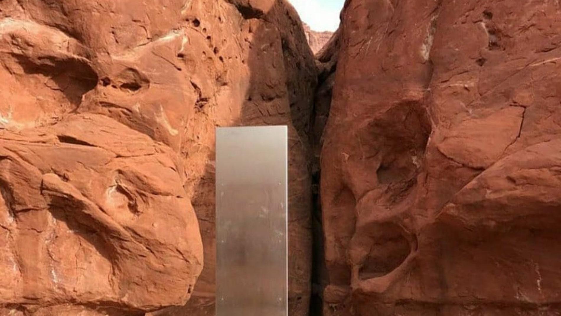 El monolito localizado en el desierto de Utah
