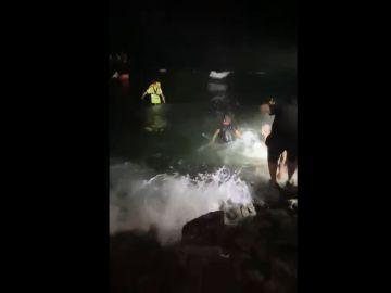 Imágenes del naufragio en Lanzarote
