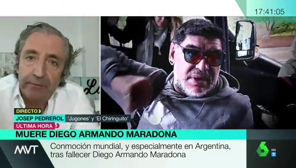 """El adiós de Pedrerol a Maradona: """"Recuerdo cómo con una mandarina hacía filigranas"""""""