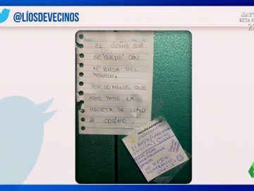 Cristina Plaza recopila los mejores 'líos' entre vecinos: estas son las curiosas notas que se dejan en coches y ascensores