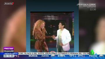 Paulina Rubio con Maradona