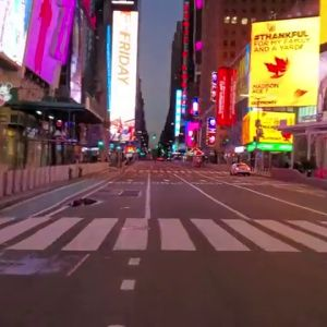 REEMPLAZO Las impactantes imágenes de Nueva York desierta en pleno Black Friday por la pandemia