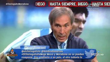 """'Lobo' Carrasco, sobre la relación Diego - Leo: """"Maradona tenía celos de Messi"""""""