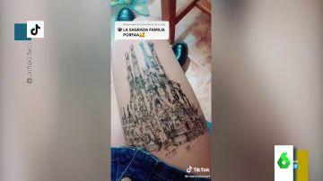 Arte en sus propias piernas: los dibujos de Mariela, la joven que arrasa en TikTok