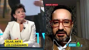 El tenso debate entre Celaá y el presidente de 'Más Plurales' sobre la elección del centro educativo por parte de los padres