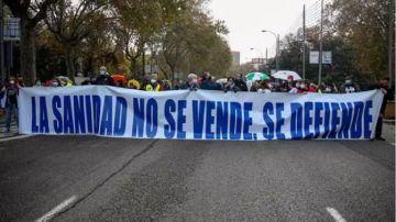 Manifestación por la sanidad pública en Madrid