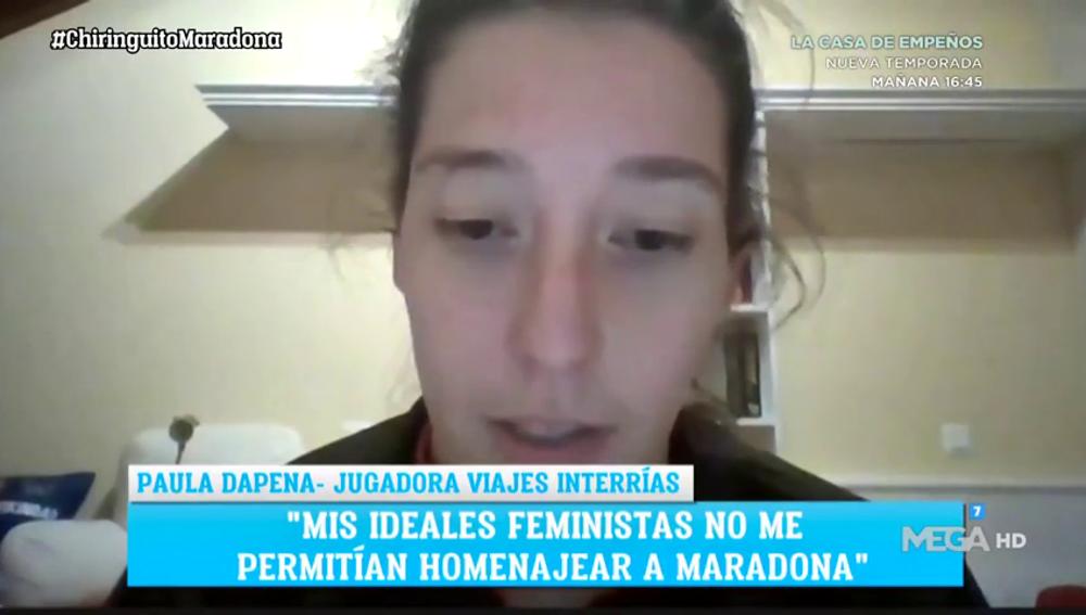 La jugadora que se negó a homenajear a Maradona denuncia amenazas de muerte
