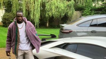 Benjamín Mendy con su Lamborghini Aventador SVJ