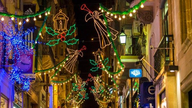 Luces de Navidad en Malta