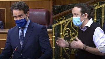 Teodoro García Egea y Pablo Iglesias