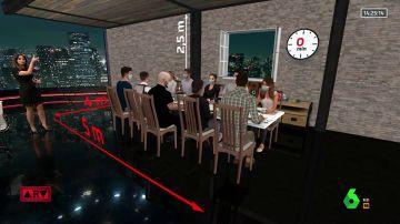 Recreación de una cena familiar de Nochebuena con realidad aumentada.
