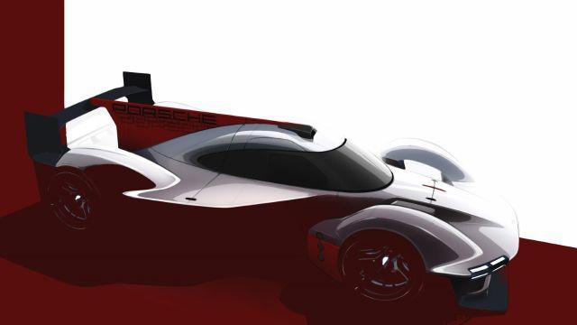 Primeros bocetos del LMDh de Porsche para 2023