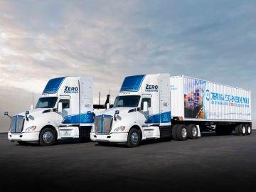 Los camiones de pila de hidrógeno se están probando en California