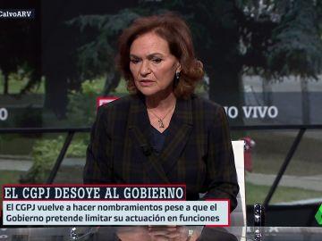 Carmen Calvo en Al Rojo Vivo