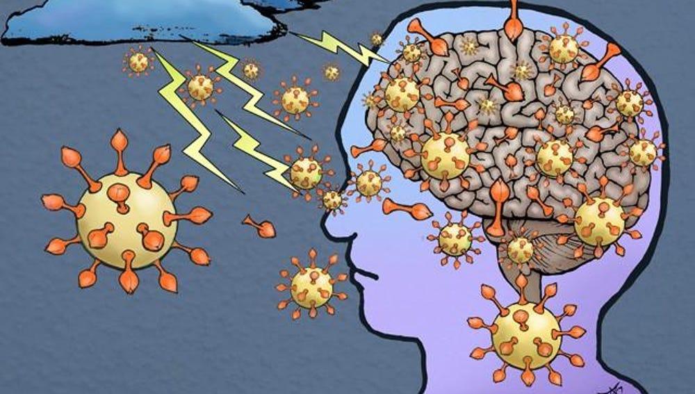 Representación gráfica de la tormenta de citoquinas que provoca la respuesta inmune al SARS-CoV-2