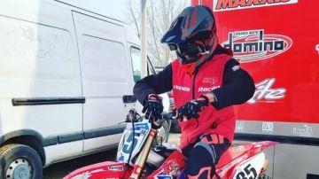 Sebastian Fortini, piloto de motocross