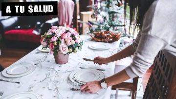 Imagen de archivo de una mesa de Navidad