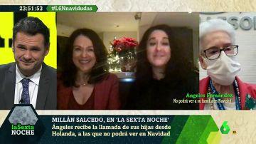 La sorpresa de laSexta Noche que emociona a Ángeles: recibe la llamada de sus hijas, a las que no podrá ver en Navidad