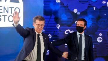 Casado y Feijóo, en el acto 'Galicia: más inversiones, menos impuestos'