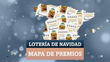 Comprobar Lotería de Navidad 2020: mapa con todos los premios del sorteo