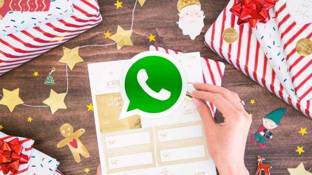 Felicita la navidad enviando pegatinas por WhatsApp