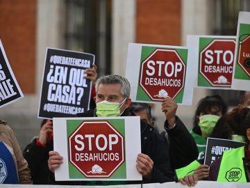 Manifestación contra los desahucios en Madrid