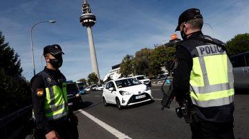 Control policial en Madrid