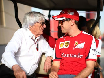 Ecclestone y Vettel