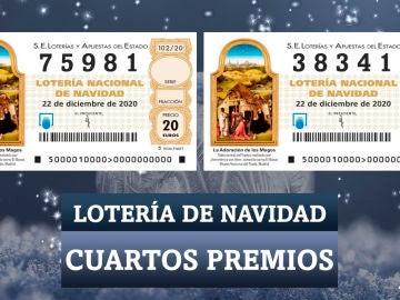 Los cuartos premios de la Lotería de Navidad 2020