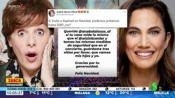 El 'dardo' de Toni Acosta a Anabel Alonso por el concierto de Raphael