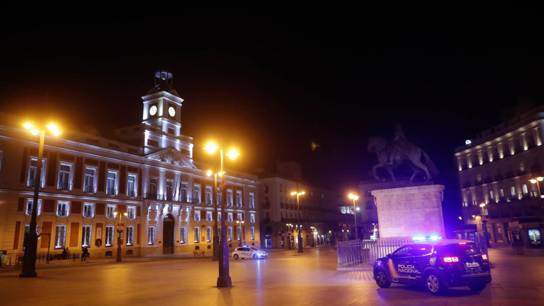 La Puerta del Sol de Madrid después del toque de queda