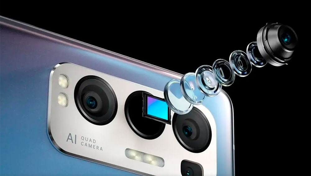 La cámara del OPPO Reno5 Pro+