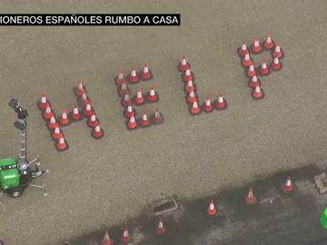 'HELP': el grito de desesperación de los miles de transportistas que continúan atrapados en la frontera entre Reino Unido y Francia