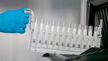 Probetas para los test PCR en un laboratorio de análisis.