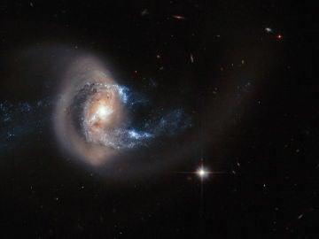 Imagen de una galaxia tomada por el telescopio espacial Hubble.