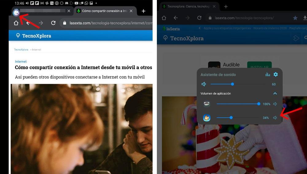 Controlar el volumen de las apps por separado en Android.