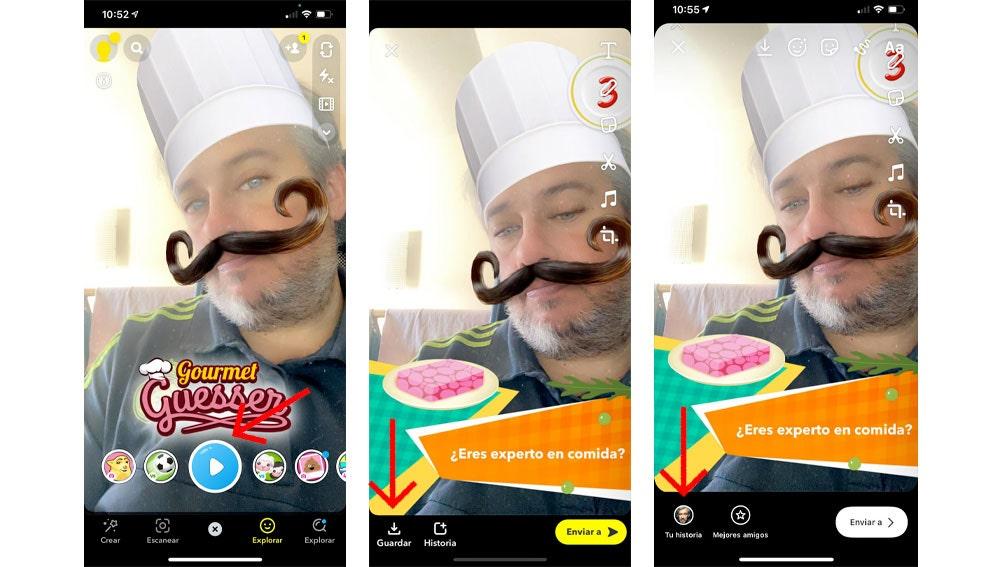 Cómo usar los filtros de Snapchat en Instagram.