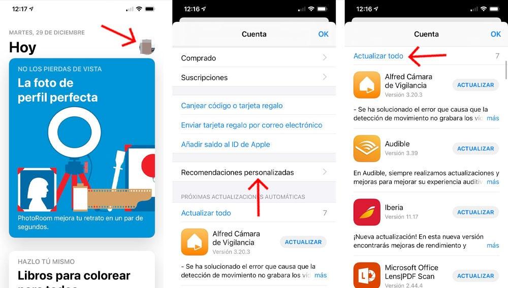 Cómo actualizar las aplicaciones en tu iPhone.