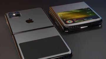 Diseño de concepto de iPhone plegable.
