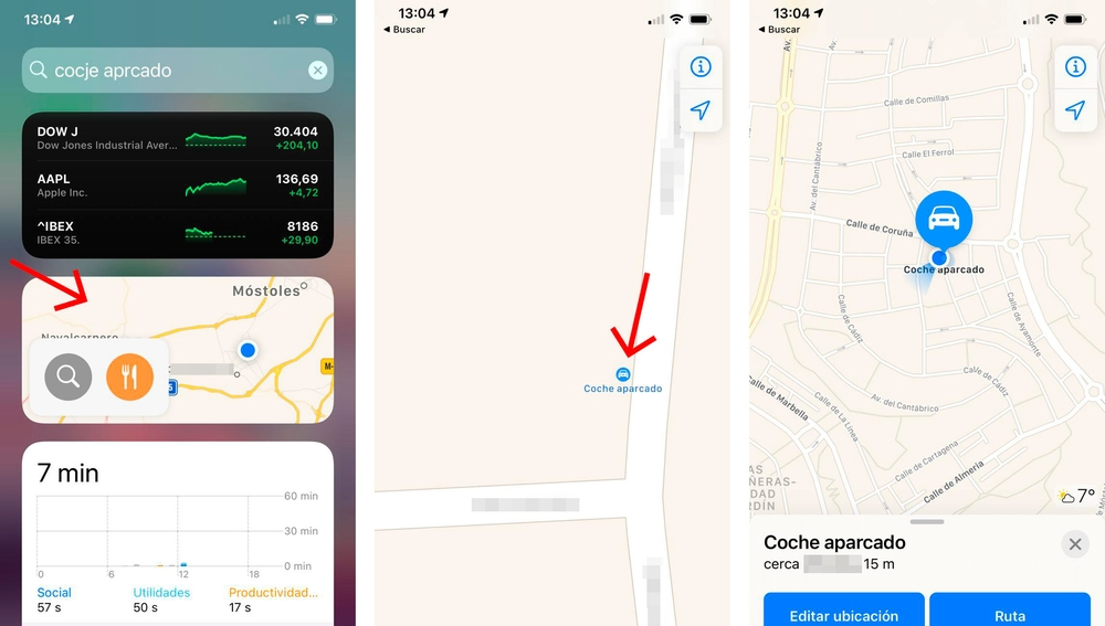 Cómo encontrar dónde has aparcado el coche con tu iPhone.