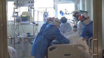 Una UCI con un paciente de coronavirus