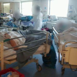 Imágenes de la presión hospitalaria en La Paz