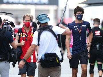 Sebastian Vettel y Lance Stroll