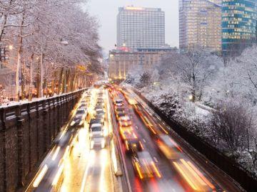Nieve en la ciudad
