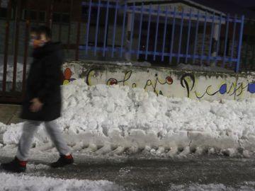 Nieve en un colegio de la Comunidad de Madrid