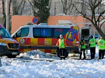 Las calles de Madrid, nevadas tras el temporal Filomena