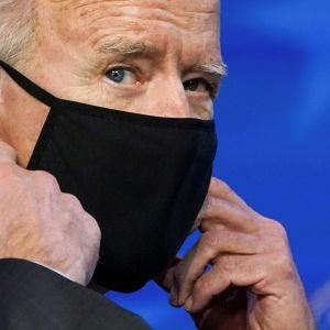 El presidente de los EEUU, Joe Biden, antes de dar un discurso